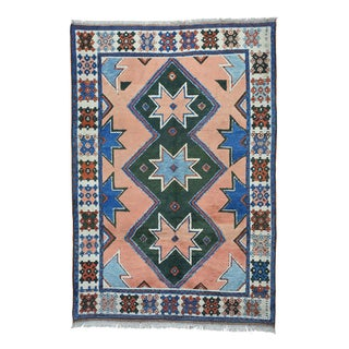 Hand-Knotted Kazak Turkish Konya Rug (7'x10')