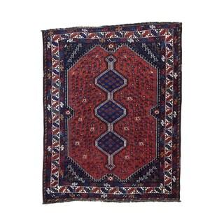 1800getarug Persian Shiraz Semi-antique Rug (5' x 6'5)