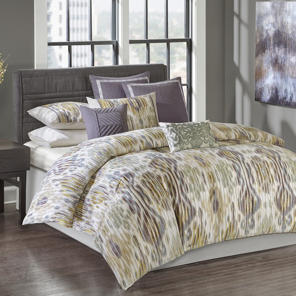 N Natori Tboli Multi Cotton Sateen Printed Comforter Set