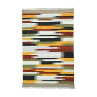Colorful Durie Kilim Wool Flatweave Hand-Woven Rug (6'1 x9'2)