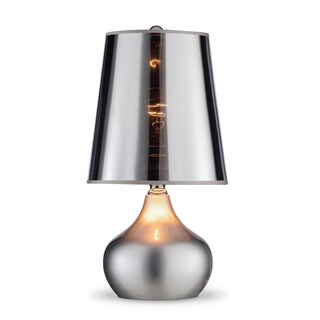 "18"" LUSTER TOUCH-ON SILVER TABLE LAMP"