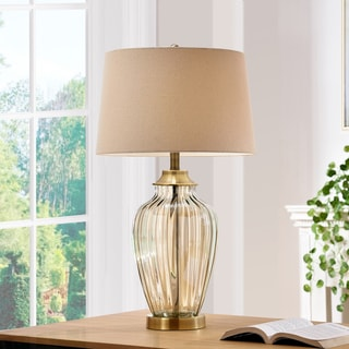 Athena Bronze Glass 28.5-inch Table Lamp