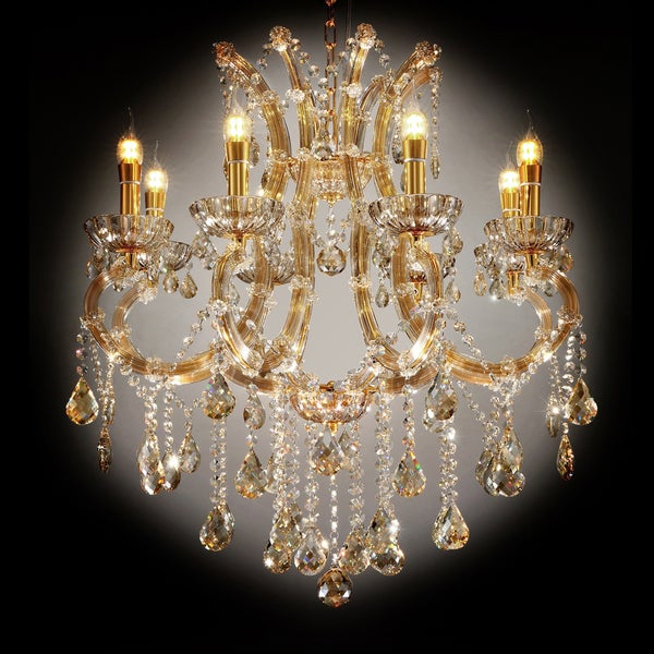 "30"" GALLANT COGNAC CRYSTAL LED CEILING LAMP"