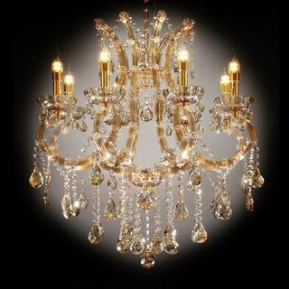 "30"" GALLANT COGNAC CRYSTAL LED CEILING LAMP"