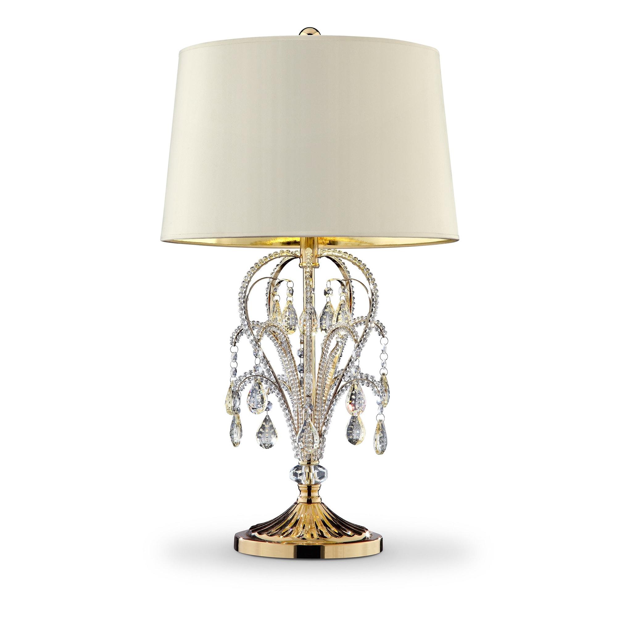 "ORE International 28.5"" Amoruccio Crystal Gold Table Lamp..."