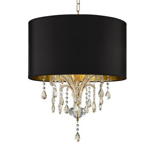 "25"" BELLISSIMO CRYSTAL GOLD CEILING LAMP"