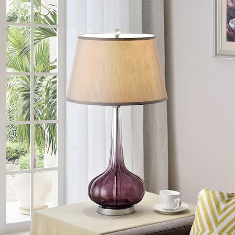 Mulberry 30-inch Fluted Glass Table Lamp