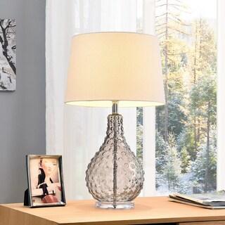 Castlerock Clear Glass/Metal 27-inch Table Lamp