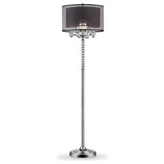 """62.5"""" EFFLEURER CRYSTAL FLOOR LAMP"""