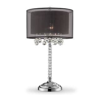 "30"" EFFLEURER CRYSTAL TABLE LAMP"