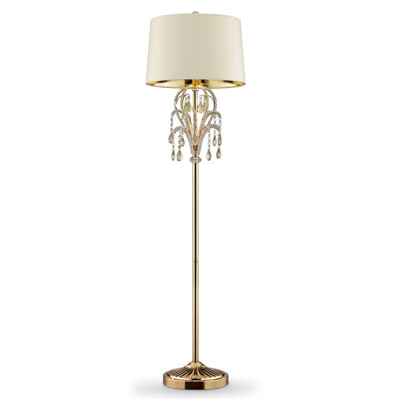 "62"" AMORUCCIO CRYSTAL GOLD FLOOR LAMP"