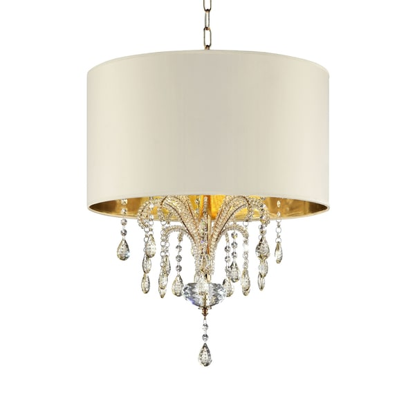 25 In. Amoruccio Crystal Gold Ceiling Lamp. Opens flyout.