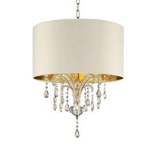 "25"" AMORUCCIO CRYSTAL GOLD CEILING LAMP"