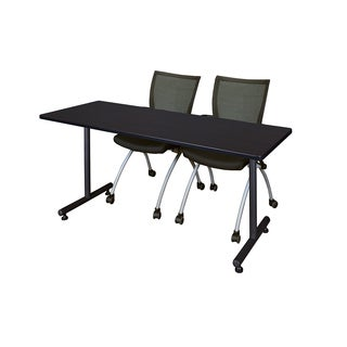 Kobe Black 66-inch x 24-inch Training Table and 2 Apprentice Chairs