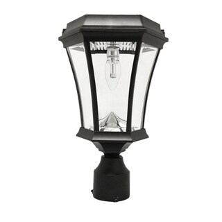 Gama Sonic Victorian Bulb Solar Light with GS Solar LED Light Bulb - Wall/Pier/ 3 Inch Fitter Mounts - Black or White Finish