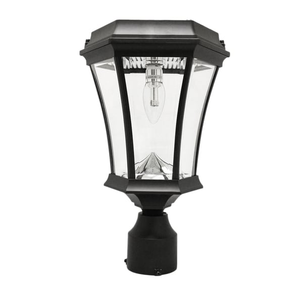 Gama Sonic Victorian Bulb Solar Light with GS Solar LED Light Bulb - Wall/Pier/ 3 Inch Fitter Mounts - Black or White Finish. Opens flyout.