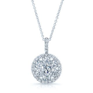 Diamond Pave Halo Pendant In 14k White Gold 1.80ctw|https://ak1.ostkcdn.com/images/products/12613610/P19407703.jpg?impolicy=medium