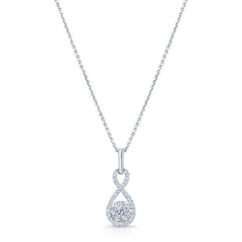 Diamond Inifinity Pendant In 14k White Gold