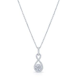 Diamond Inifinity Pendant In 14k White Gold