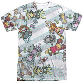 Fraggle Rock/Cyclone (Front/Back Print) Short Sleeve Adult 100% Poly Crew in White