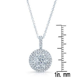 14k White Gold 0.85ct TDW Diamond Double Entourage Pendant|https://ak1.ostkcdn.com/images/products/12613637/P19407705.jpg?impolicy=medium