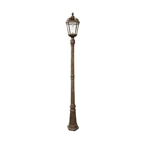 Gama Sonic Royal Weathered Bronze Solar Lamp Post With GS Solar Light Bulb
