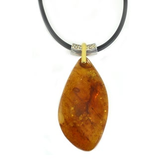 One-of-a-kind Michael Valitutti Special Cut Amber Pendant for Men