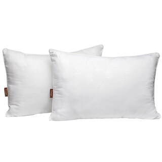 Panama Jack Luxury Embossed Microfiber Bed Pillow (Set of 2) - White