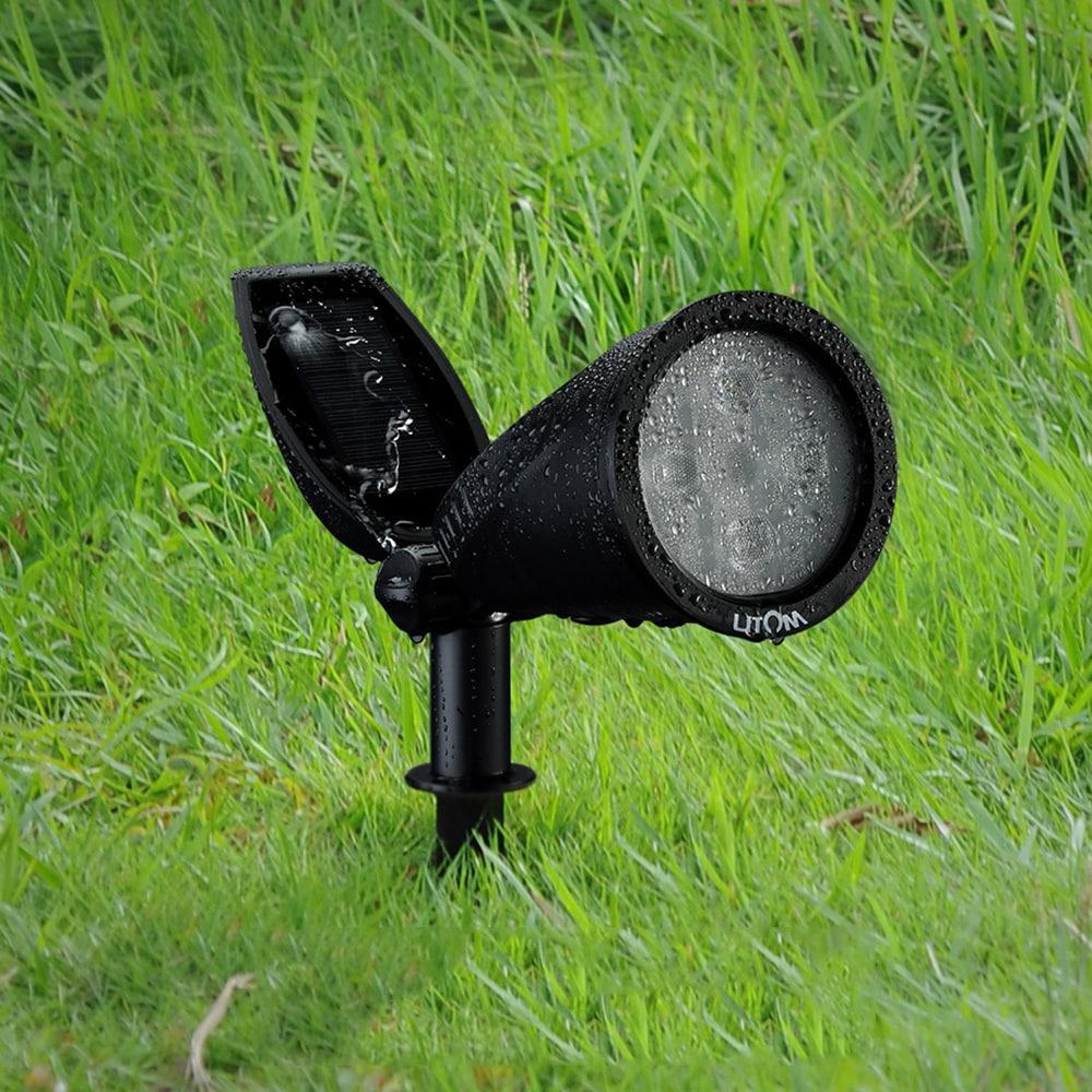 Coutlet Litom Soleil P2 Black Plastic Spotlight (Solar-po...