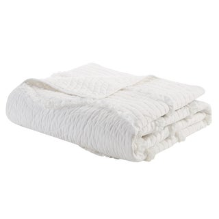 Maison Rouge Rina Quilted Oversized Throw 2-Color Option