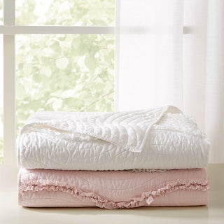 Madison Park Helene Quilted Oversized Throw 2-Color Option