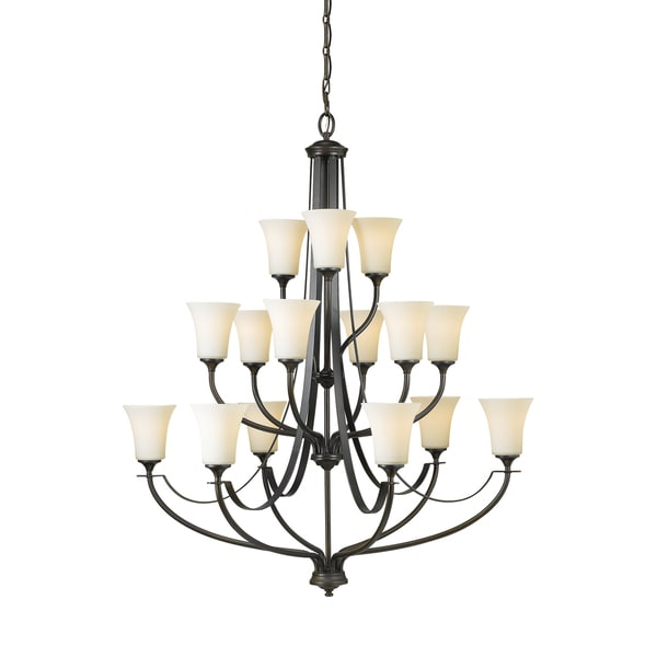 Feiss Barrington 15 Light Oil Rubbed Bronze Chandelier