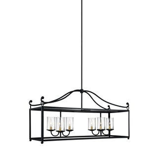 Feiss Declaration 6 Light Antique Forged Iron Chandelier