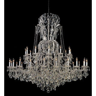 Crystorama Maria Theresa Collection 37-light Polished Chrome/Swarovski Spectra Crystal Chandelier