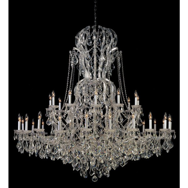 Crystorama Maria Theresa Collection 37-light Polished Chrome/Swarovski Elements Strass Crystal Chandelier