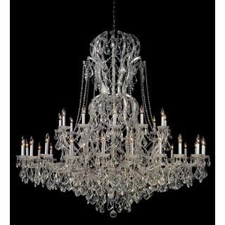 Crystorama Maria Theresa Collection 37-light Polished Chrome/Swarovski Strass Crystal Chandelier