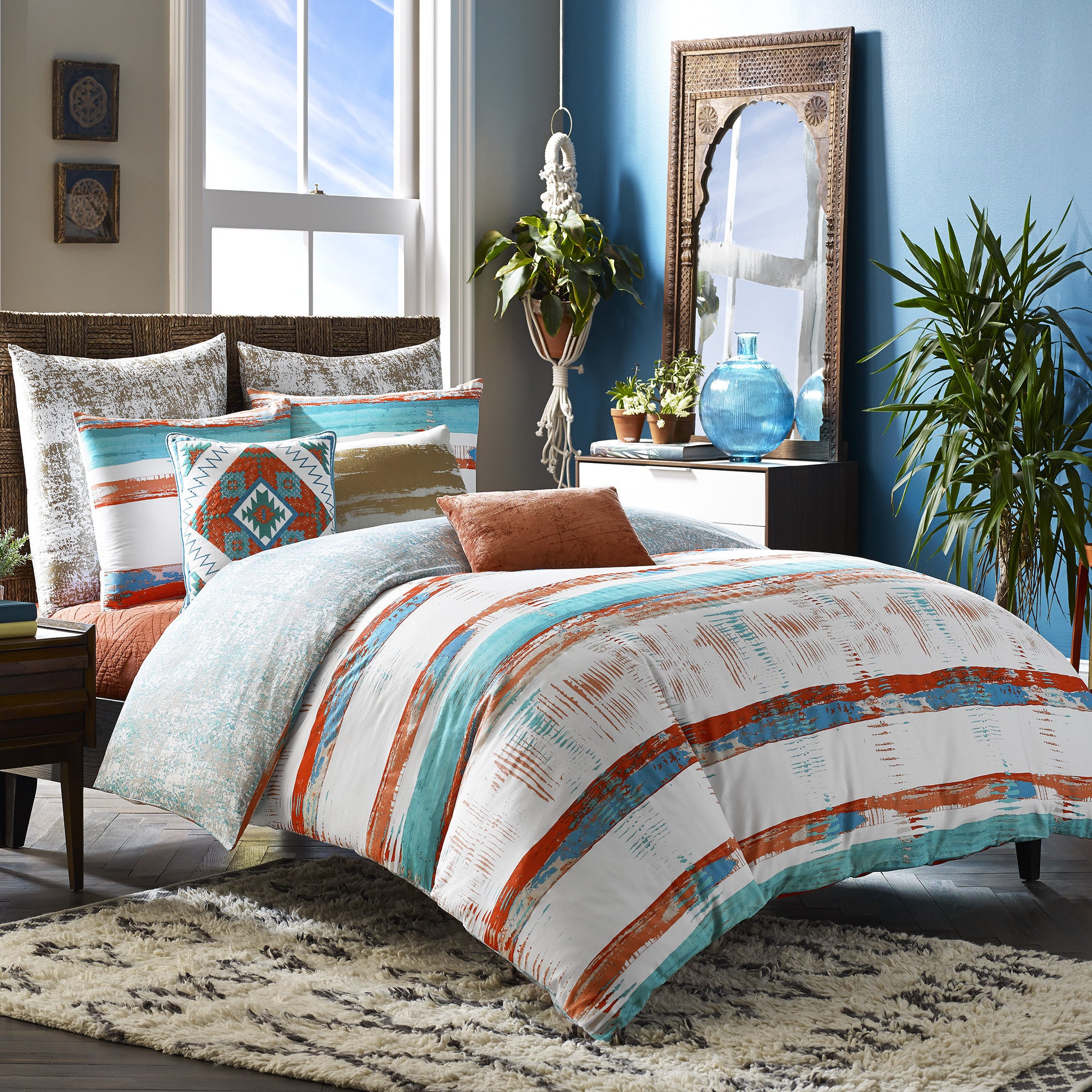 Blissliving Home Siesta 3 Piece Duvet Cover Set (King), W..