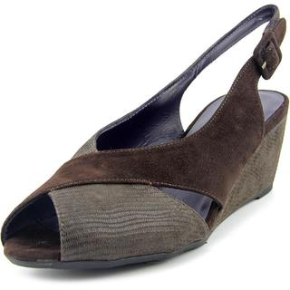 Vaneli Women's 'Wilda' Brown Suede Regular Dress Shoes