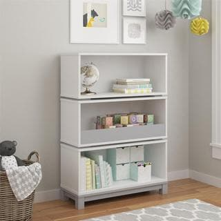 Altra Leni White/ Light Slate Grey Storage Bookcase by Cosco