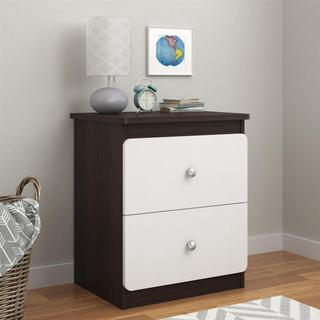 Altra Willow Lake Coffee House Plank/ White Nightstand with Drawers by Cosco