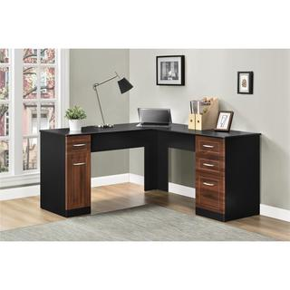 Altra Avalon Cherry/ Black L-Desk