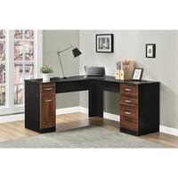 Altra Avalon Cherry/ Black L-Desk