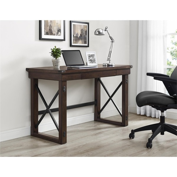 Ameriwood Home Wildwood Mahogany Veneer Desk - Free Shipping Today