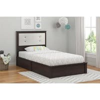 Ameriwood Home Willow Lake Coffee House Plank Twin Platform Bed