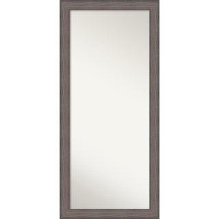 Wall Mirror Choose Your Custom Size - Oversized, Country Barnwood Wood - Brown/Grey