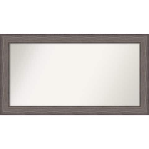 Wall Mirror Choose Your Custom Size-Extra Large, Country Barnwood Wood - Brown/Grey