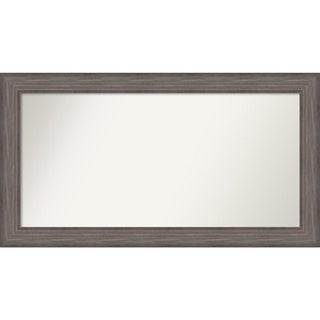 Wall Mirror Choose Your Custom Size-Extra Large, Country Barnwood Wood - Brown