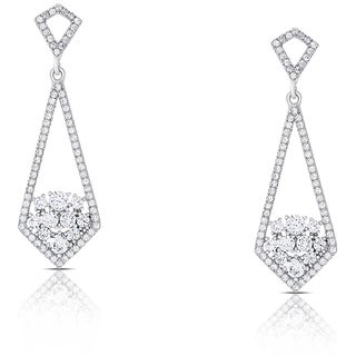 Samantha Stone Sterling Silver Cubic Zirconia Drop Earrings