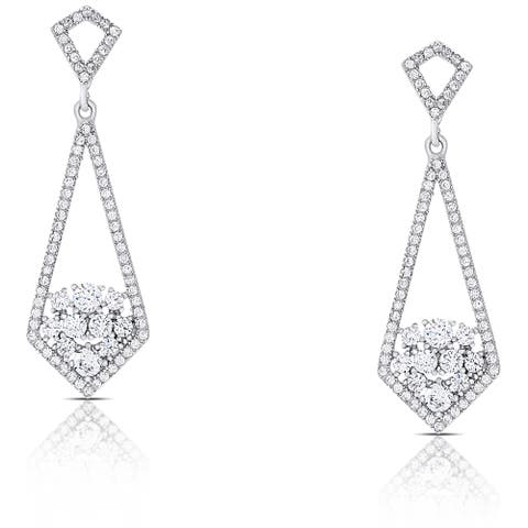 Samantha Stone Sterling Silver Cubic Zirconia Drop Earrings