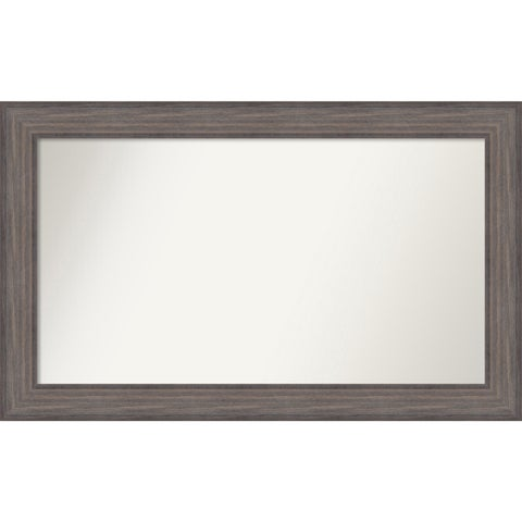 Wall Mirror Choose Your Custom Size - Large, Country Barnwood Wood - Brown